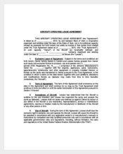 Aircraft Operating Lease Agreement Template
