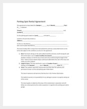 Parking Spot Rental Agreement