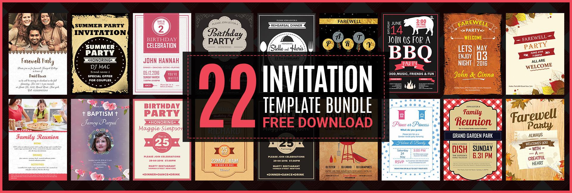 49+ Free Invitation Templates - Wedding, Birthday, Dinner, Reunion | Free &  Premium Templates