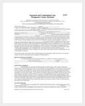Apartment Lease Template In Form