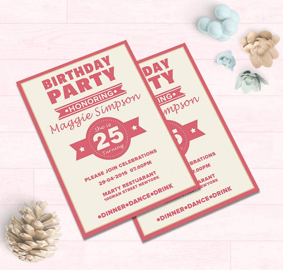 19 Free Invitation Templates Wedding Birthday Dinner Reunion – Birthday Party Card Template