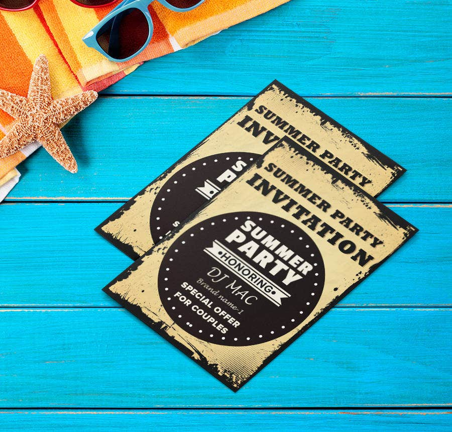summer party invitations templates free