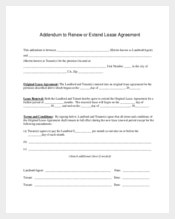 Extend Lease Agreement