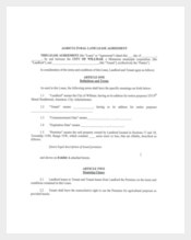 Agricultural Land Lease Agreement