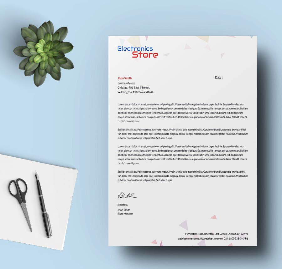 24 free letter head templates education architecture hospital the electronics store letterhead template is an ideal example of such a document which you can spiritdancerdesigns Images