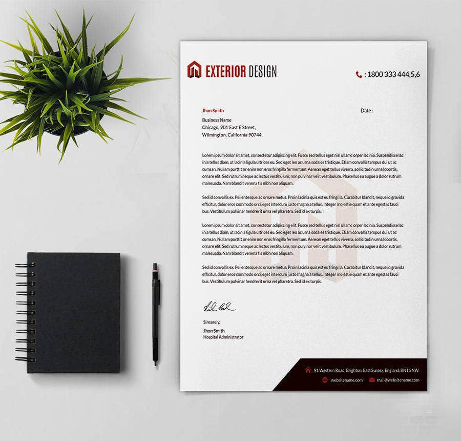 24 free letter head templates education architecture hospital a transparent header with a dark tapered footer makes this template an ideal piece of document to make business communications you can also watermark the flashek Gallery