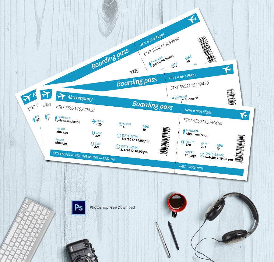 10+ Free Ticket Templates - Event, Holiday, Travel, Concert | Free