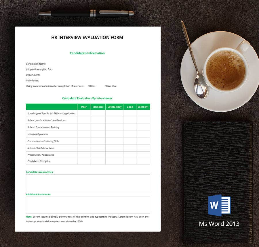 8+ Free Hr Forms (Job Descriptions, Guildline Form, Complain Form