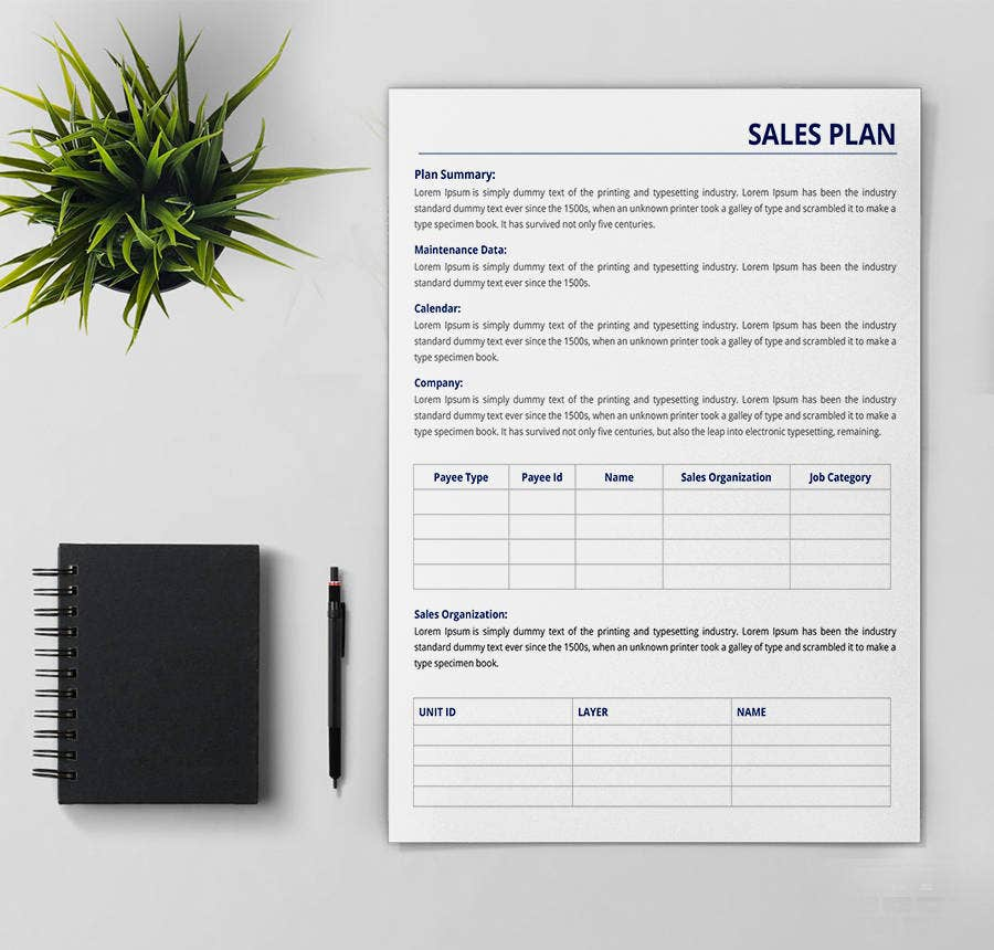 8 free sales plan templates marketing development report free
