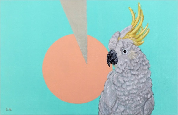 Bird Geometric Painting