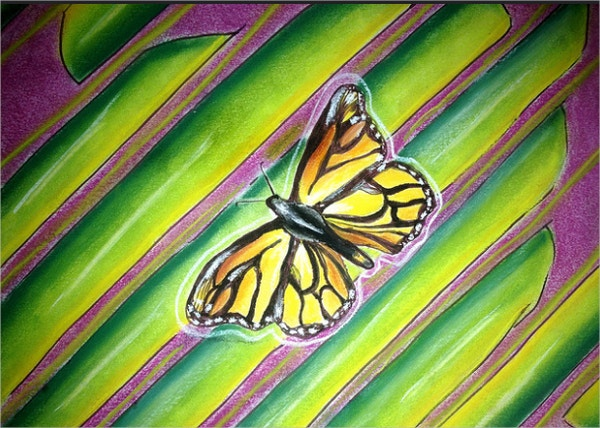 Butterfly Geometric Painting