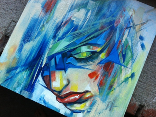 Face Geometric Painting