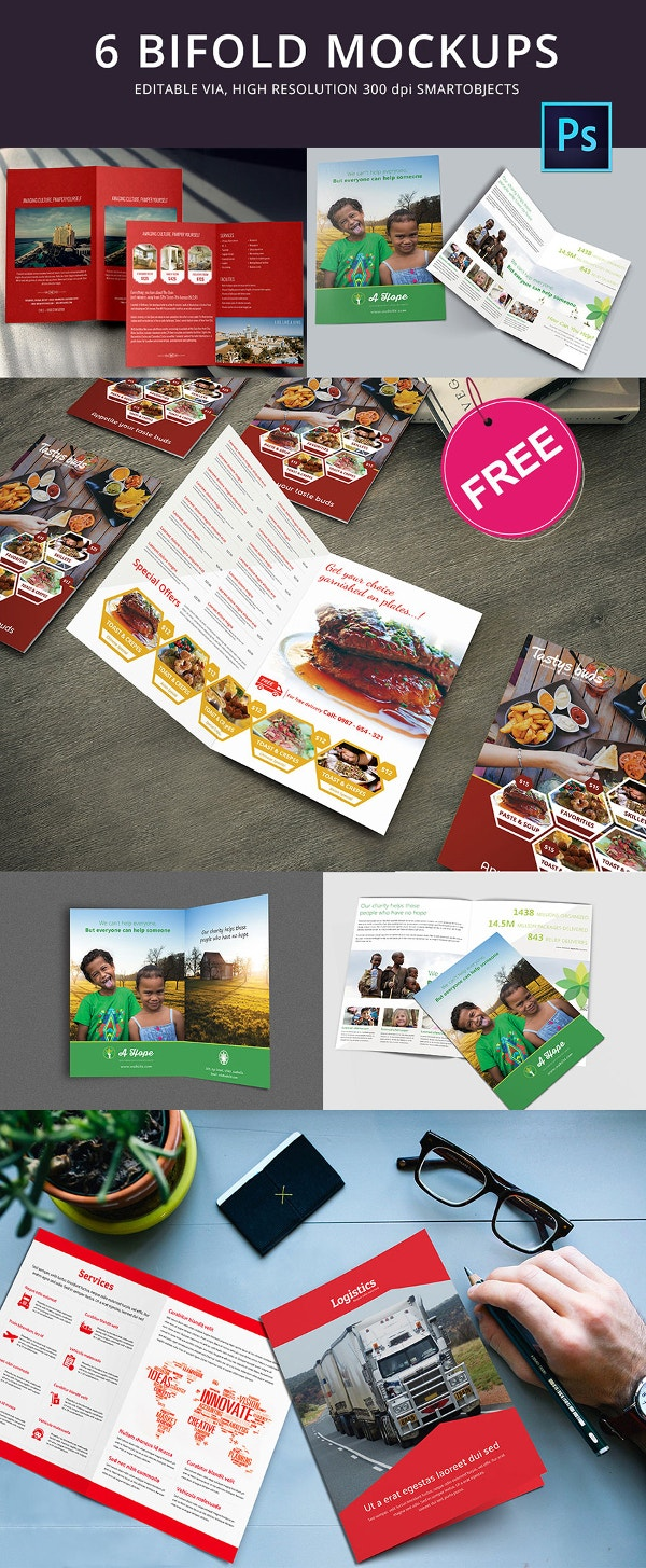 Freebie of the Day - Bi-Fold Mock-up Template