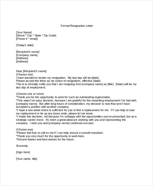 Formal Letter Format   Free Word Pdf Documents Download