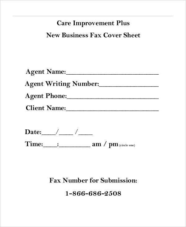 Sample Business Fax Cover Sheet. Sensitive Information Fax Cover