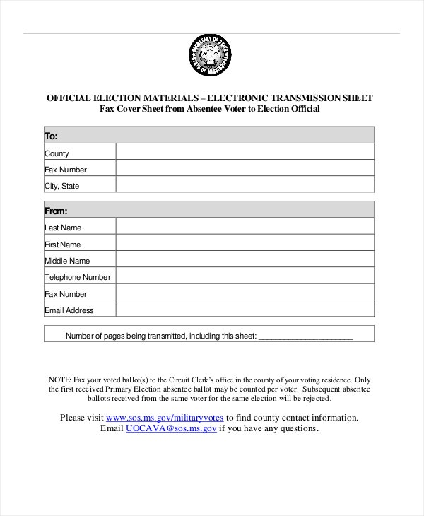 Fax Cover Sheet Template   Free Word Pdf Documents Download