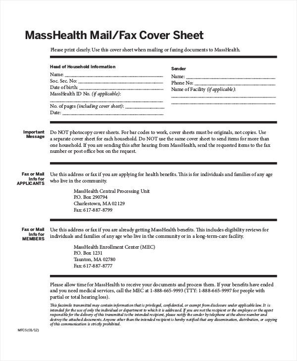 masshealth-fax-cover-sheet