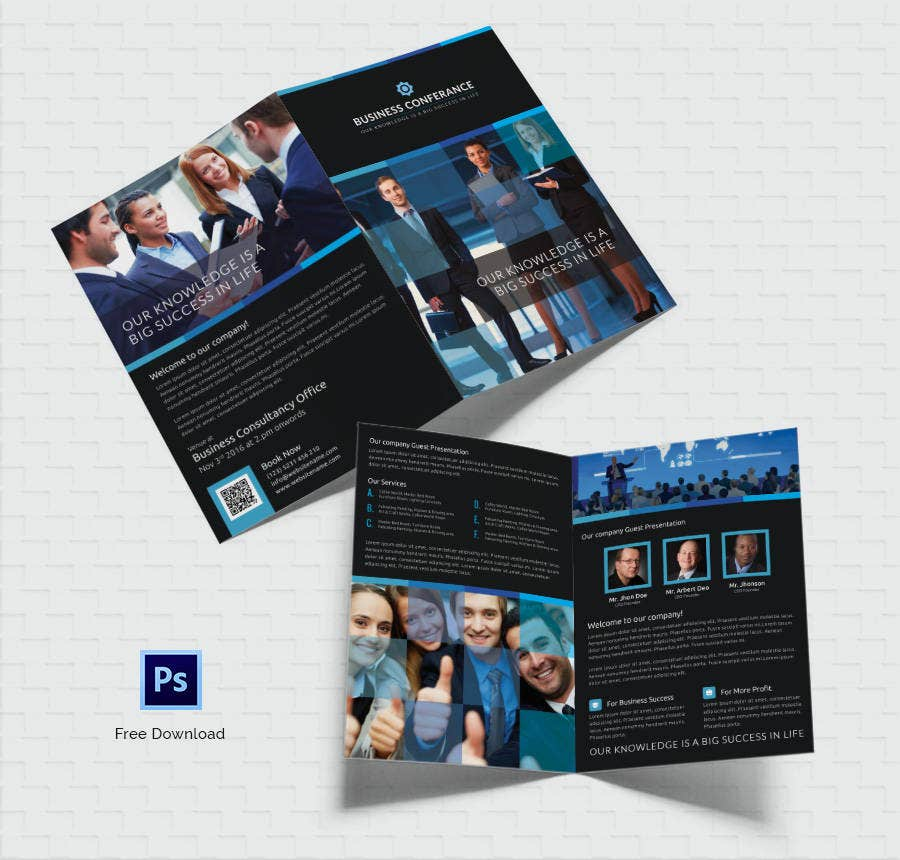 Free Brochure Templates Hotel Corporate Travel Free - Four page brochure template