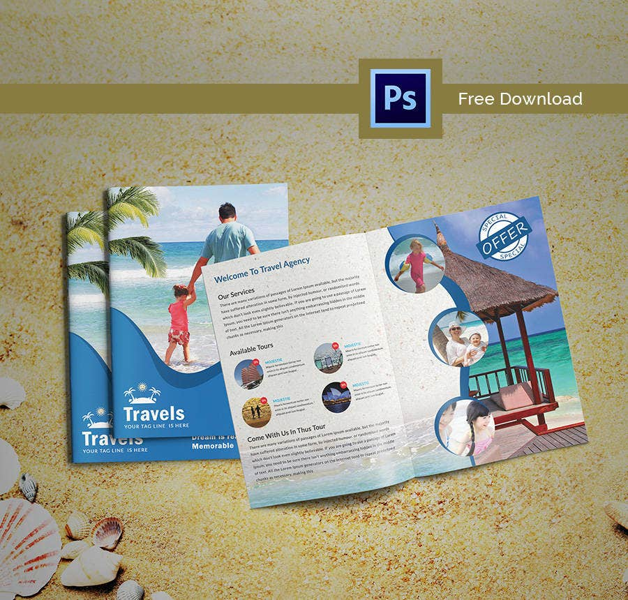 17 Free Brochure Templates Hotel Corporate Travel Free