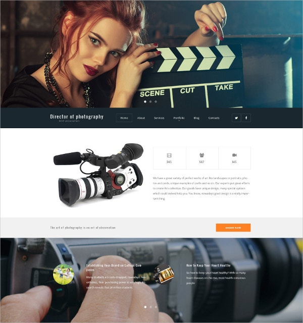 Portfolio WordPress Theme $79