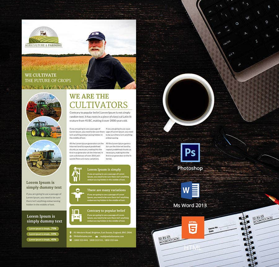 This Email Newsletter Template Would Be Perfect For Farmers And Those  Involved In Agriculture. If You Own A Similar Company, You Can Advertise  Yourself ...  Free Email Newsletter Templates Word