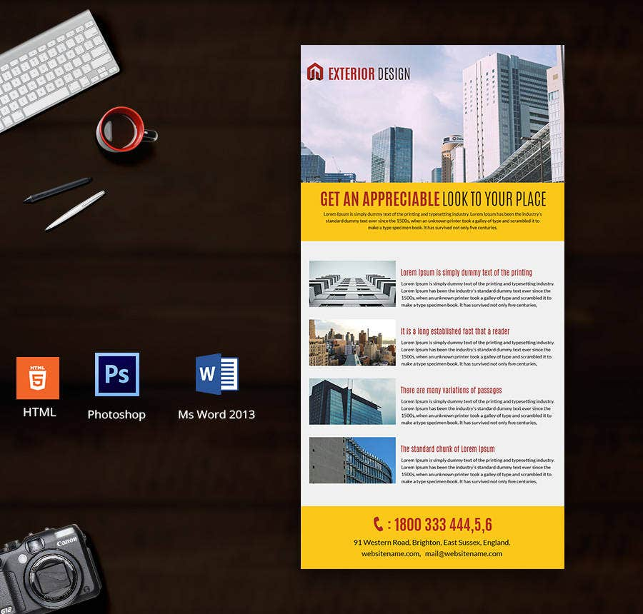 19 free email newsletters templates education business for Exterior design templates