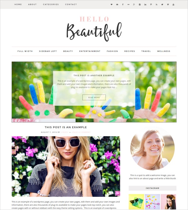 Fastest Beautiful WordPress Theme $35