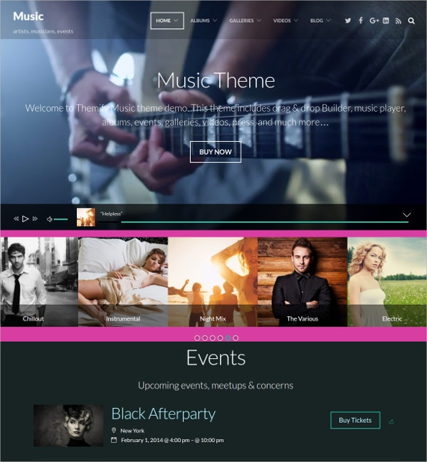 fastest music wordpress theme