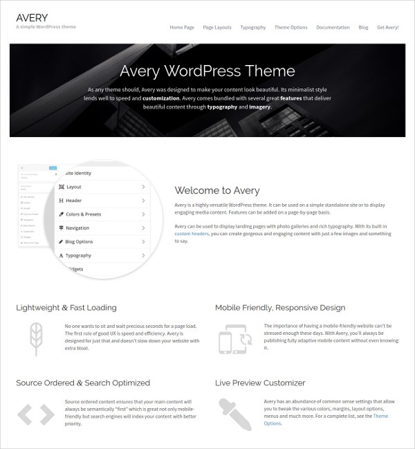 Simple & Elegant Fastest WordPress Theme