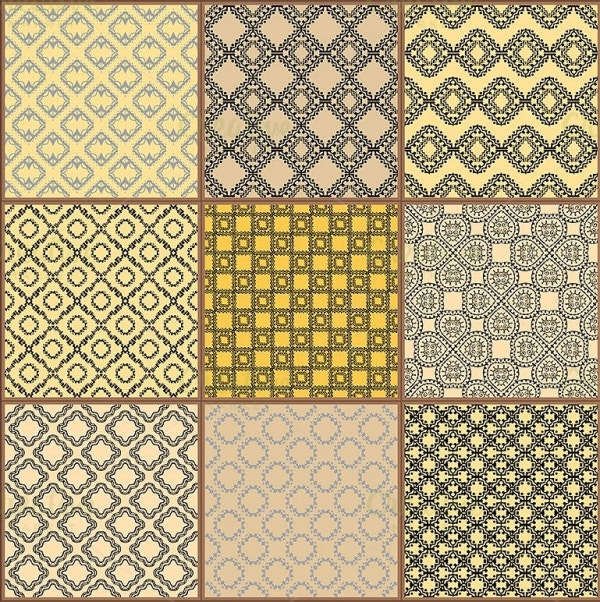 glazed ceramic tiles pattern set