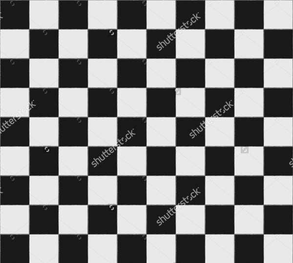 black and white checkered floor tiles pattern