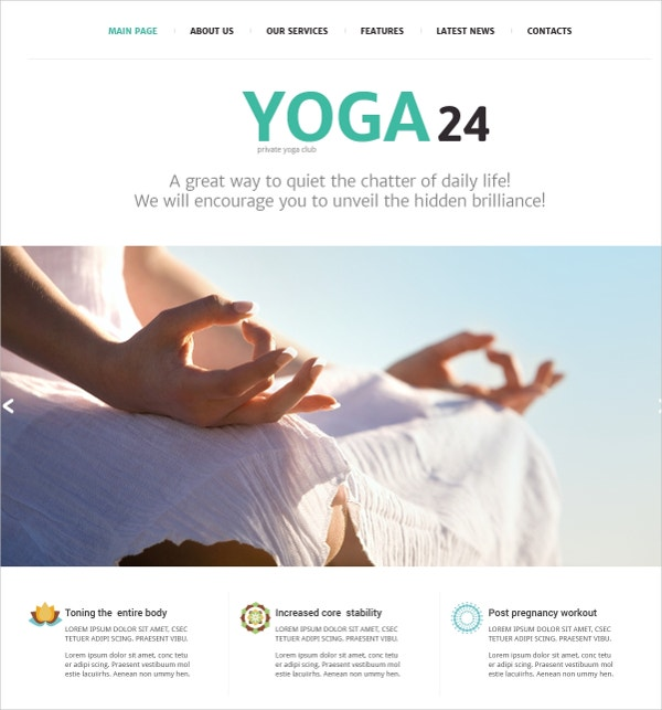 25+ Yoga Website Themes & Templates | Free & Premium Templates