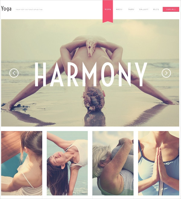 Yoga Responsive WordPress Theme $75