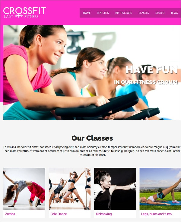 Yoga & Gym WordPress Website Theme $69