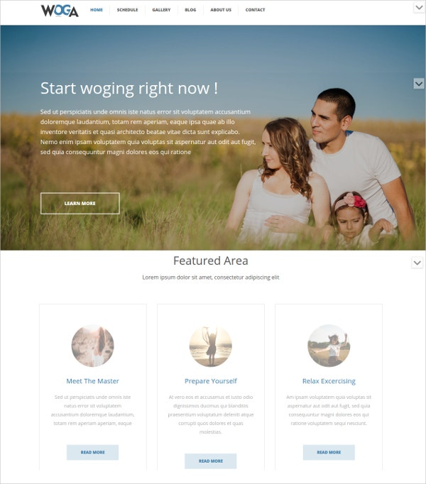 Stunning Yoga WordPress Website Theme $49