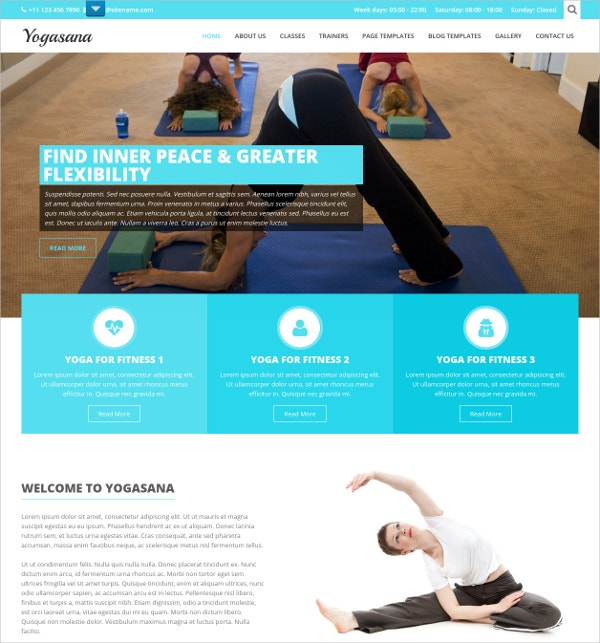 Free Yoga Website Theme