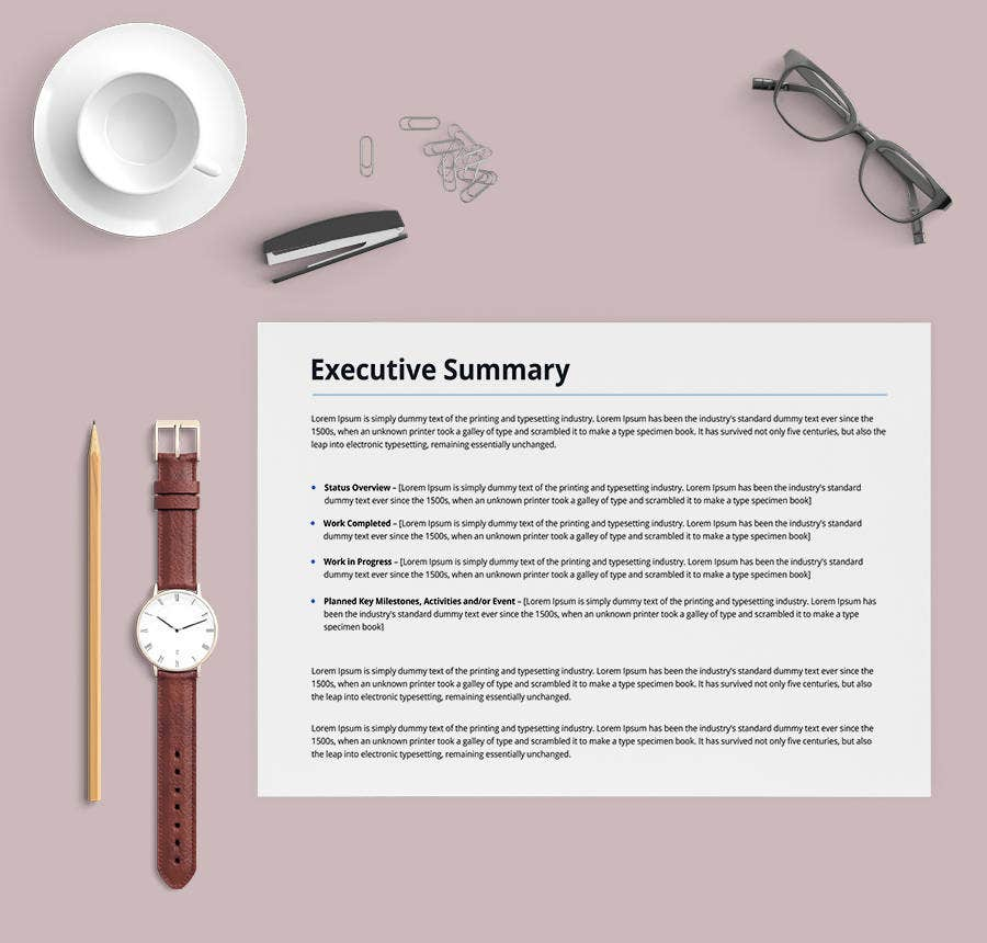 9+ Free Executive Summary Templates - Business, Industry, Management ...