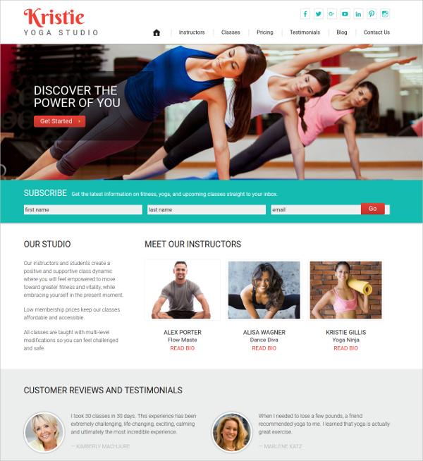 Perfect Yoga WordPress Website Theme