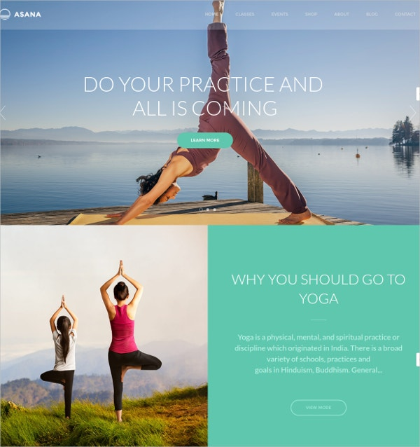Yoga Sport Website Template $59
