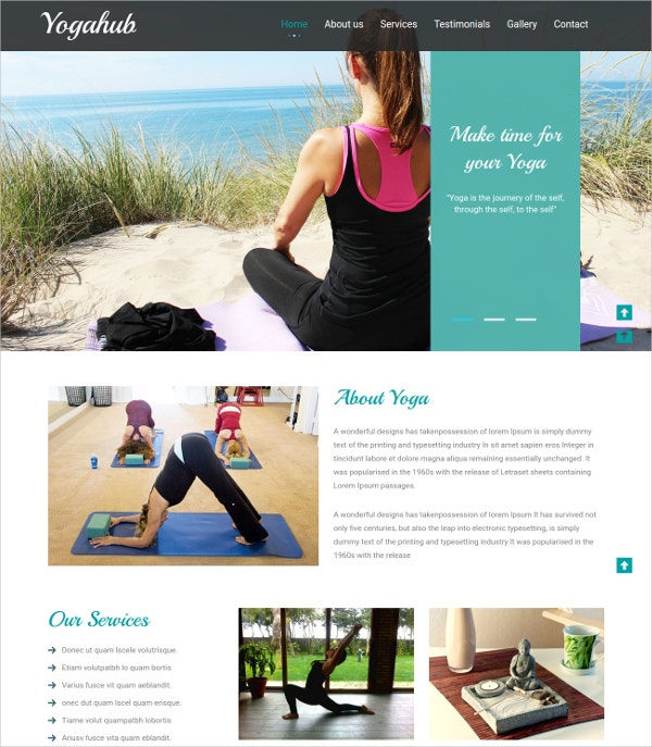 Yoga Bootstrap Responsive Website Template
