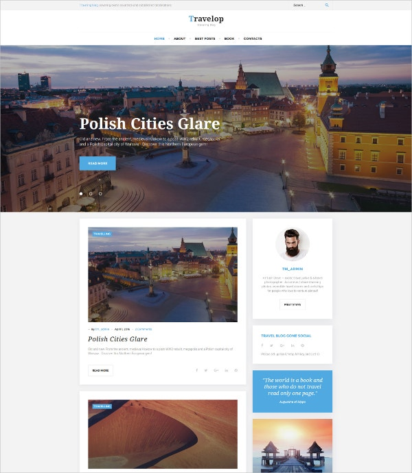 seo friendly travel wordpress theme