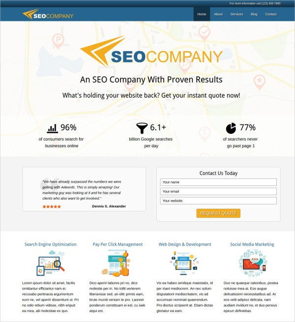 premium seo company wordpress theme