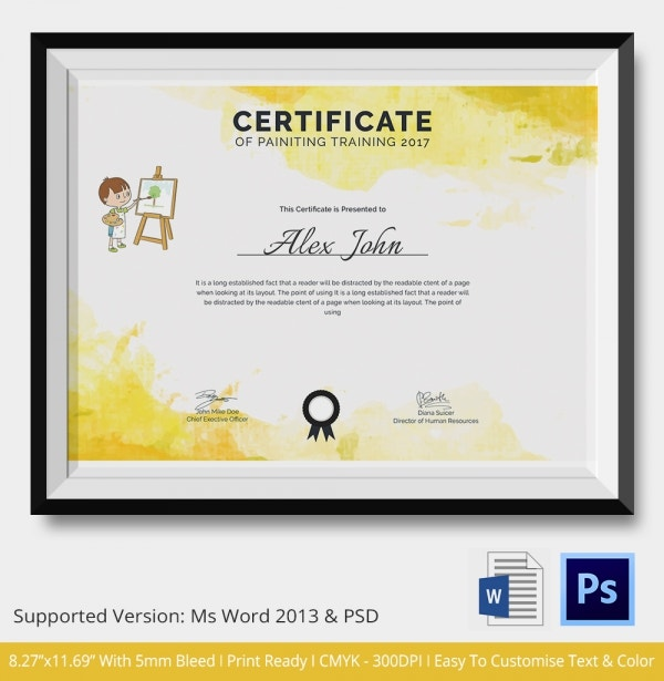 Painting Training Certificate Download
