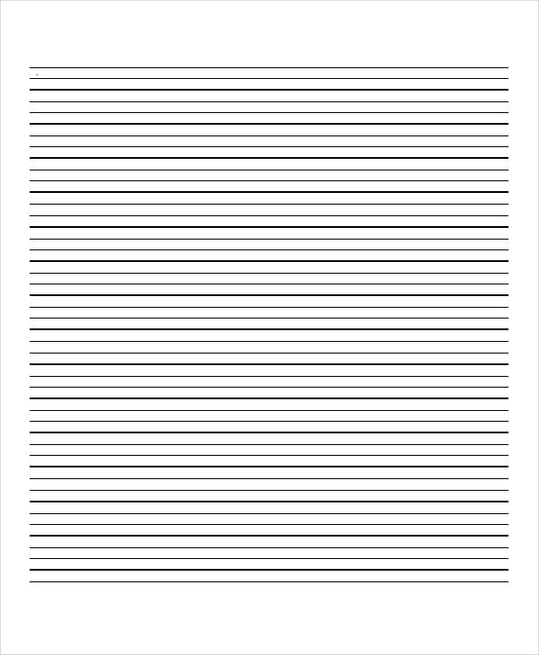 Lined Paper 10 Free Word PDF PSD Documents Download – Lined Paper Printables