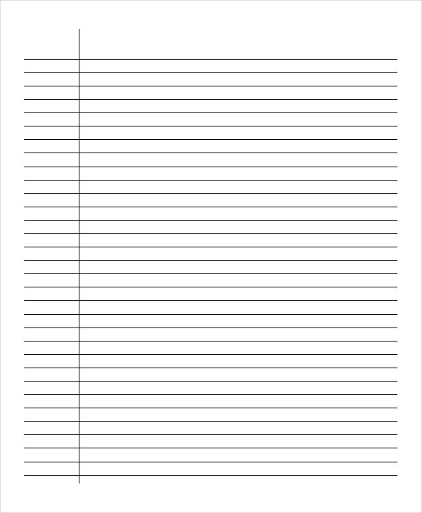 Lined Paper 10 Free Word PDF PSD Documents Download – Lined Paper