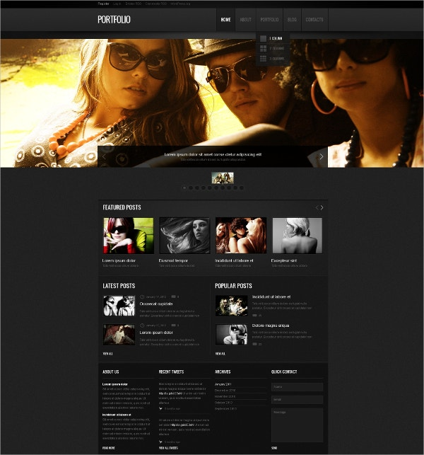 Premium Photographer Gallery Portfolio WordPress Theme $75