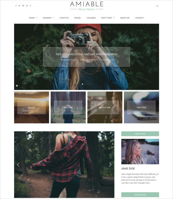 Elegant Photography Gallery WordPress Theme $27