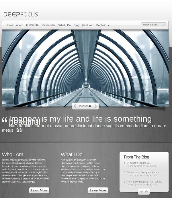 online photography gallery wordpress theme