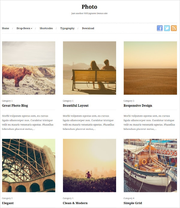 21+ Photo Gallery WordPress Themes & Templates | Free & Premium ...