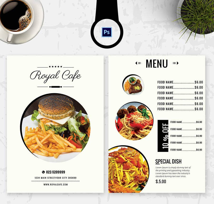 16 free menu templates cafe restaurant party free for Easy menu templates free